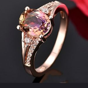 18kt Rose Gold Rainbow Armitrine Ring